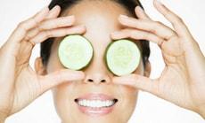 Освежающие маски из свежего огурца для глаз